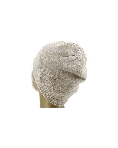 Бежевая кашемировая шапка Not Shy