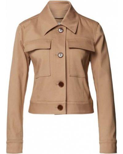 Brązowa krótka kurtka bawełniana Boss