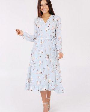 Платье с запахом весеннее Bessa