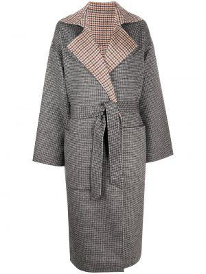 Шерстяное пальто - серое Nanushka