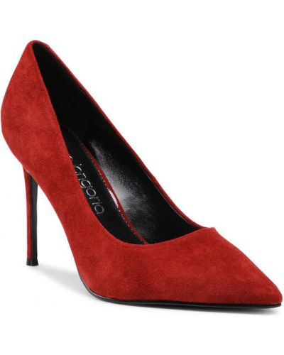 Czółenka szpilki - czerwone Eva Longoria