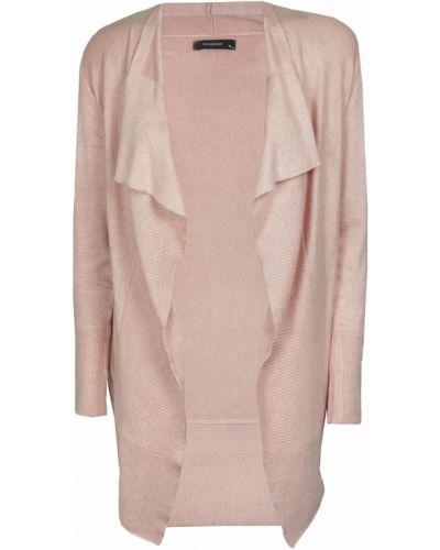 Różowy sweter z wiskozy z długimi rękawami Reserved