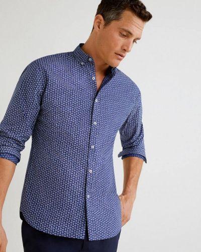 Рубашка с длинным рукавом синий Mango Man