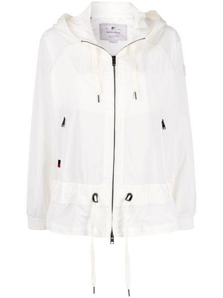 Облегченная куртка с капюшоном мятная на молнии круглая Woolrich
