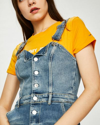 Джинсовое платье с карманами однотонное Guess Jeans