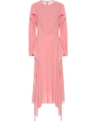 Платье миди розовое персиковое Stella Mccartney