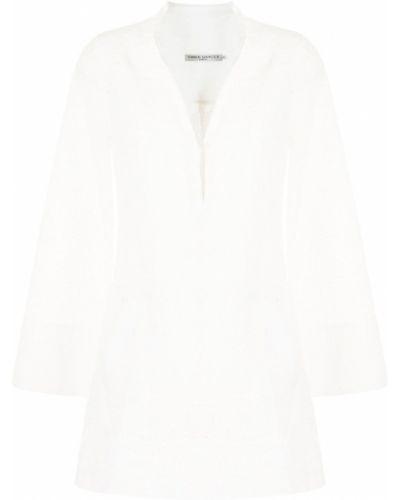 Biała tunika bawełniana z długimi rękawami Three Graces