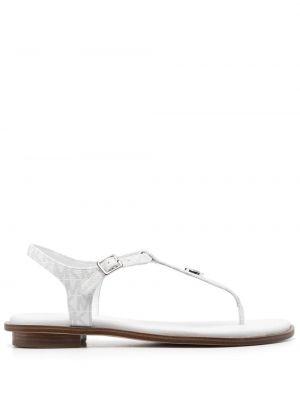 Белые кожаные сандалии с пряжкой Michael Michael Kors