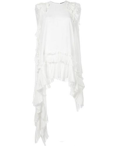 Блузка без рукавов с драпировкой асимметричная Alexander Mcqueen
