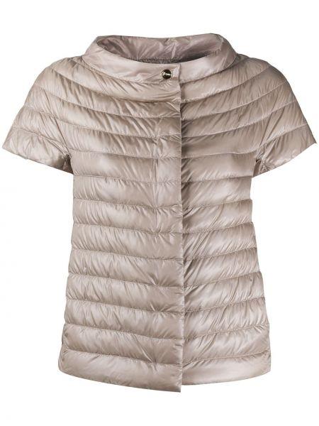 Стеганая куртка розовая укороченная Herno