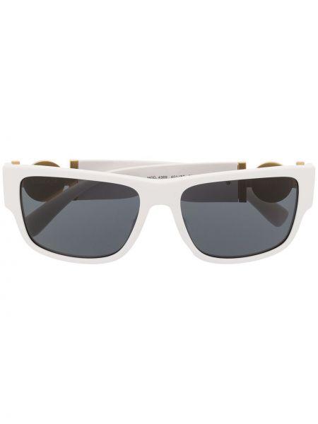 Белые солнцезащитные очки квадратные металлические с завязками Versace Eyewear