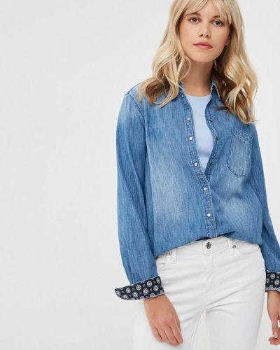 Джинсовая рубашка синяя S.oliver