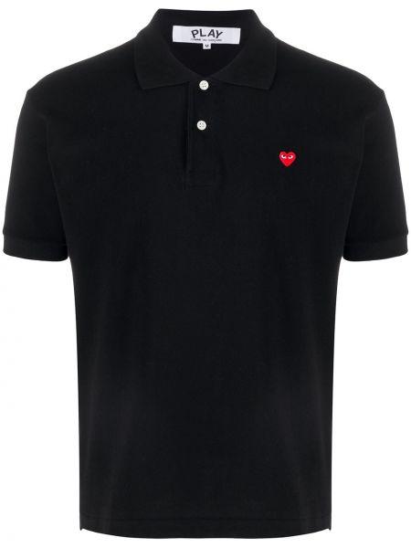 Koszula krótkie z krótkim rękawem z logo z kołnierzem Comme Des Garcons Play