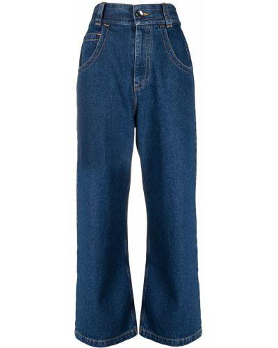 Мешковатые хлопковые синие джинсы Opening Ceremony