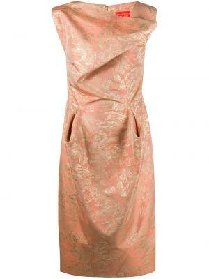 Приталенное платье с драпировкой с воротником без рукавов Vivienne Westwood Pre-owned