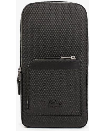 Черная сумка осенняя Lacoste