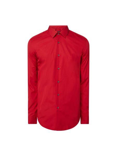 Bawełna koszula z mankietami z długimi rękawami z popeliny Boss