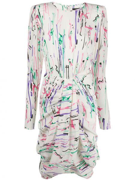 Платье миди с абстрактным принтом с драпировкой Isabel Marant