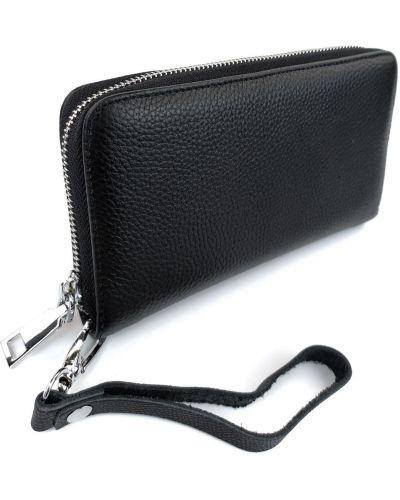 Кожаный клатч - черный Rozetka