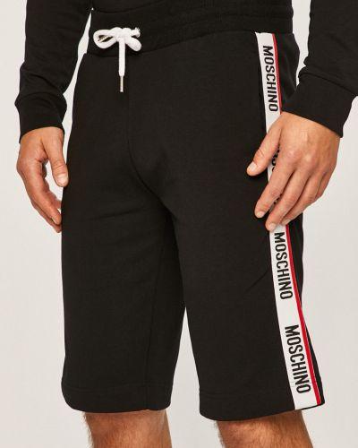 Шорты с карманами черные Moschino Underwear