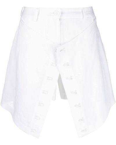 Белые шорты на молнии Almaz
