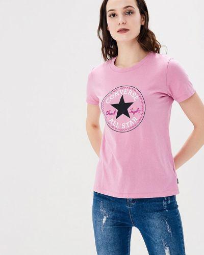 Розовая футболка Converse