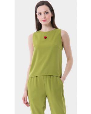 Блузка без рукавов зеленый Vladi Collection