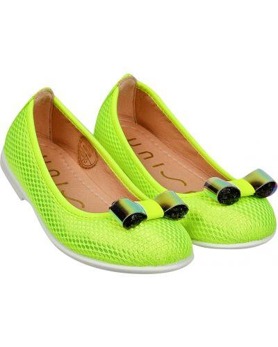 Текстильные желтые туфли Unisa