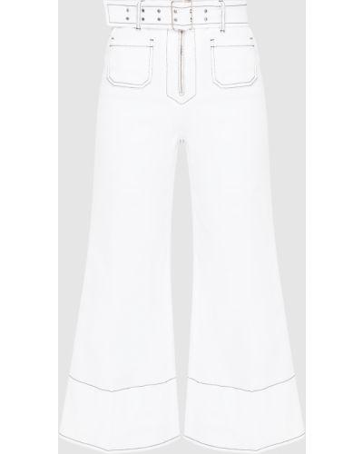 Белые джинсы Miu Miu
