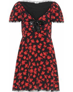 Платье мини с цветочным принтом baby doll Miu Miu
