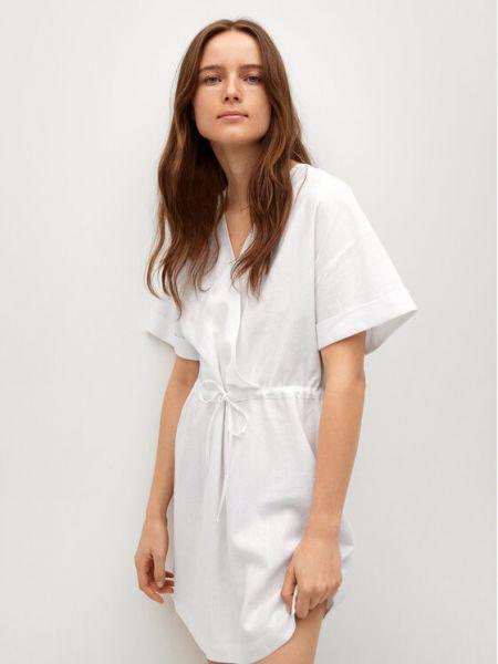 Biała sukienka casual Mango