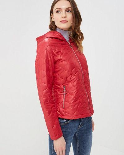 Красная утепленная куртка B.style