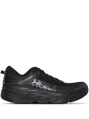 Кроссовки на липучках - черные Hoka One One