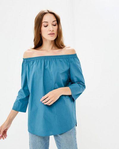 Бирюзовая блузка с открытыми плечами Iwie