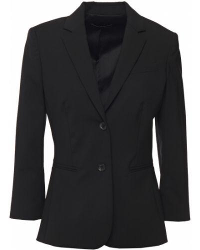 Шерстяной черный пиджак с карманами The Row