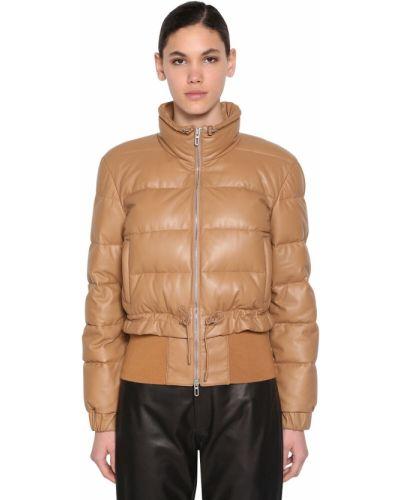 Кожаная куртка на молнии с карманами Drome