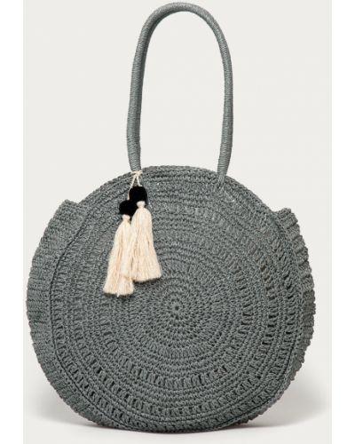 Szara torebka duża bawełniana Pieces