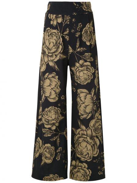 Черные свободные брюки с карманами свободного кроя с высокой посадкой Osklen