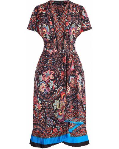 Платье мини с цветочным принтом с поясом Etro
