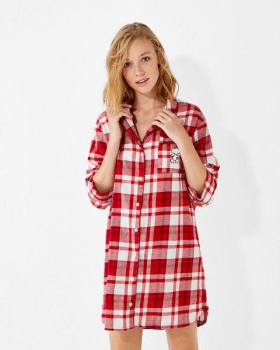 Платье осеннее красный Women'secret