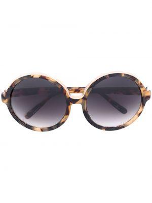Złote czarne okulary oversize N°21