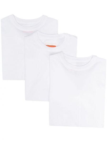 Хлопковая футболка - белая Ck Calvin Klein
