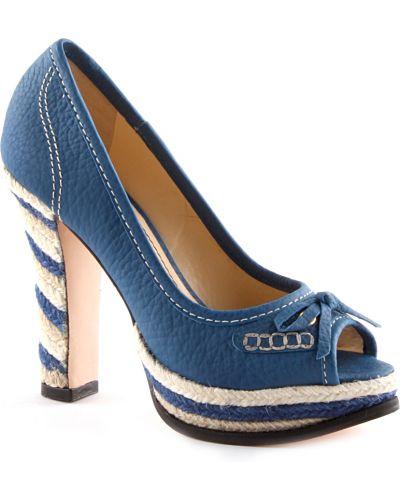 Синие туфли на танкетке Werner
