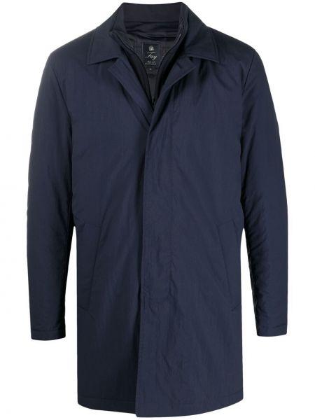 Синяя куртка с воротником с длинными рукавами Fay