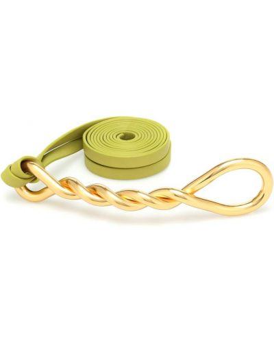 Кожаный желтый ремень с пряжкой с поясом Bottega Veneta