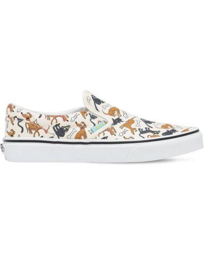 Bawełna brezentowy sneakersy z wkładkami na gumce Vans