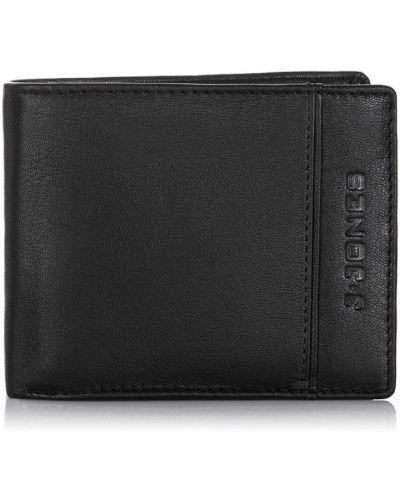 Czarny portfel skórzany oversize Merg