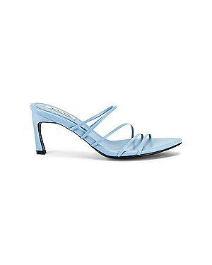 Кожаные сандалии на каблуке с завязками Reike Nen