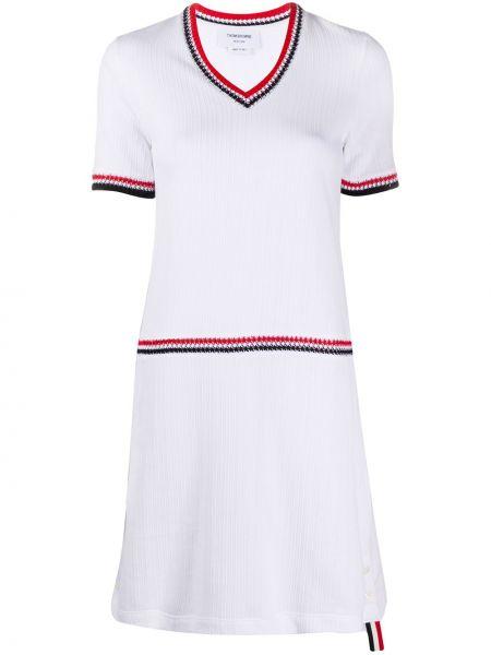 Sukienka mini codzienna z dekoltem w serek Thom Browne