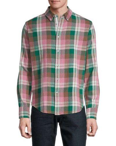 Zielona klasyczna koszula bawełniana z długimi rękawami Rag & Bone